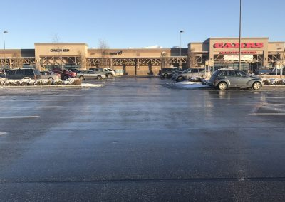 Pushing carts in this parking lot is a breeze